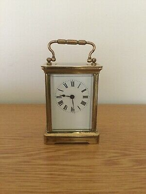 FRENCH CARRIAGE CLOCK c1920 WORKING
