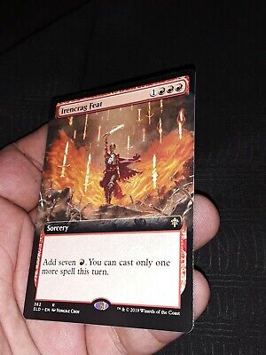 Irencrag Feat EXTENDED ART MTG Throne of Eldraine rare N/NM