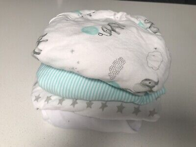 Bassinet fitted sheets - Set Of 4 Jersey Sheets