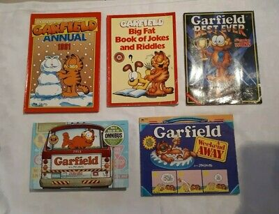 Vintage Garfield Books 1980'S And Annual 1991