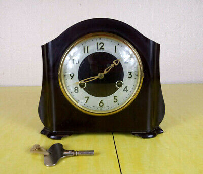 VTG Smith's Enfield St Paul 8 day Striking Mantle Clock Art Deco Bakelite FC7597