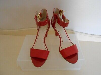 Nine West Red Open Toe Shoes size 7.5 ,Great Condition