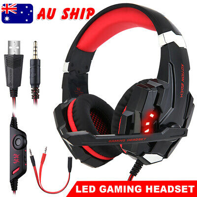 LED 3.5mm Gaming Headset G9000 MIC Headphones for Mac Laptop PS4 Xbox One