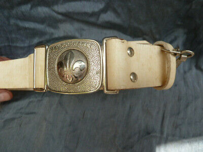 Boy Scout Vintage White Leather Belt Mackenzie Melb 90cm 36""