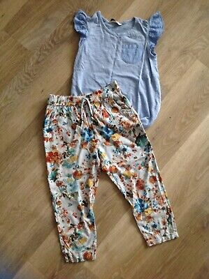 Girls Next floral trousers and George top size 5 years