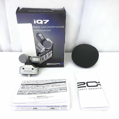 Zoom iQ7 Mid Side Condenser Microphone for iOS iPad iPhone iPod Touch iQ 7 MINT