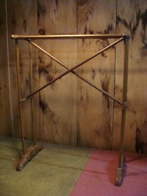 late 1800's foldable towel rack, SO COOL, oak,