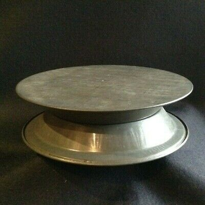 ORIGINAL Vintage TALA metal CAKE TURN TABLE 30s 40s 50s retro icing decoration