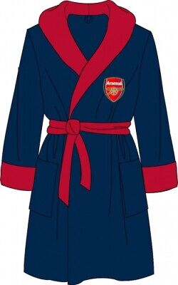 Mens Official Arsenal Football Club Fleece Dressing Gown/Robe