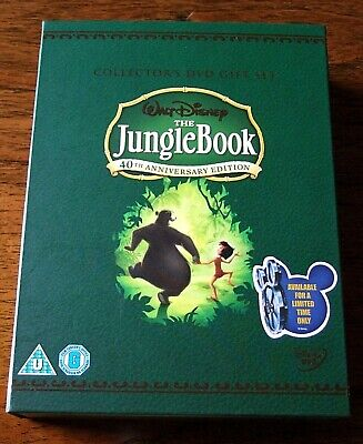 The Jungle Book 40th anniversary editon DVDs artbook DVD sleeve hard cover box