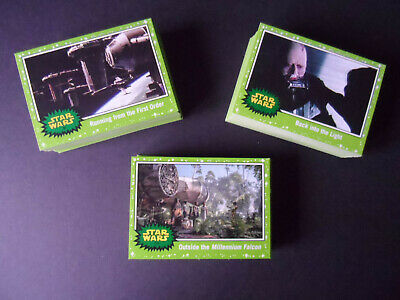 Topps Star Wars Journey To The Rise Of Skywalker 110 Green Parallel Base Set