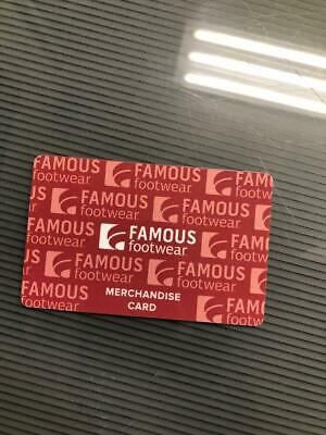 FAMOUS FOOTWEAR $172. Merchandise Credit/Gift Card *FREE Shipping & Tracking*
