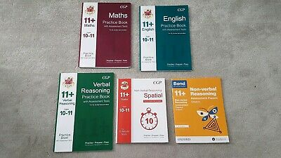 CGP and Bond 11 Plus + Books Bundle of 5 books with Assesment Papers, Tests