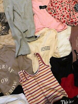 Bundle Joblot 20x Womens T-Shirts Tops Vests H&M Zara Missguided SheIn Size 6 8