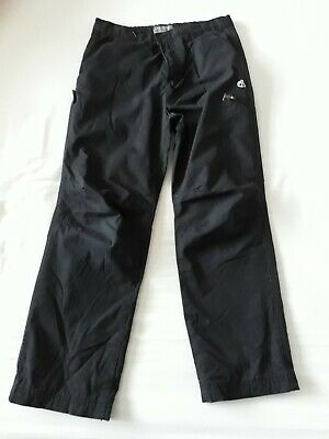 Boys Black Craghoppers 'Kiwi winter Lined' trousers Size 7-8 years