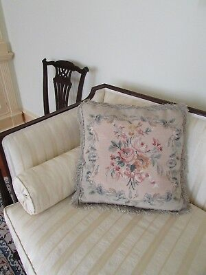 Needlework Cushion Tapestry Aubusson Style Chelsea Textiles Country House 22""