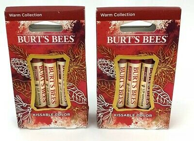 2X Burt's Bees Kissable Color Warm & Cool Collection Lip Shimmer