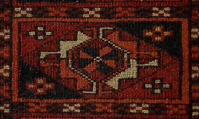 Antique Tekke Turkmen Chuval Bagface Very Fine Weave #31