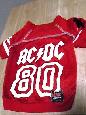Dog Clothing, Rock & Roll, Rockwear,  AC/DC Official Merchandise, Sports Jersery