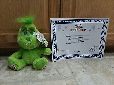 New Build A Bear Young Baby little lil Grinch Little Mini Stuffed Plush NWT