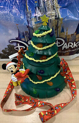Disney Parks Happy Holidays Christmas Tree Popcorn Bucket Mickey & Minnie 2019