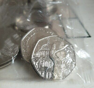 NEW 2019 50p UNCIRCULATED Paddington Bear St Pauls 20 in Sealed bag (3)