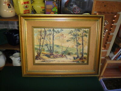 Australian Artist Eric Whisson Old Oil Painting  Frame Side 54Cm Wide X