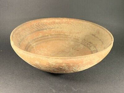 Large Ancient Indus Valley Decorated Harappan Pottery Bowl Circa. 2800-1800Bc