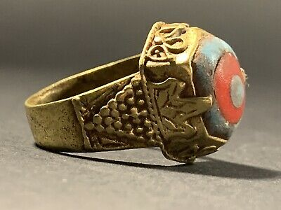 Late Medieval Islamic Gold Gilded Ottoman Ring - Stunning Item - Very Rare