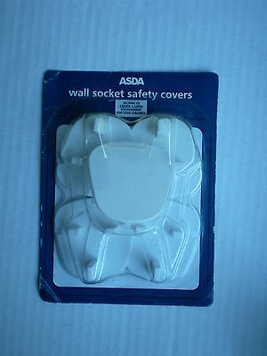 Asda Wall Socket Safety Covers Pack of 5 UK Electric Plug Baby Child Protector