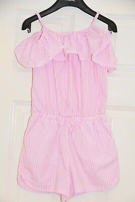 Beautiful NEXT Size 6-7 Years (116-122cm) Pink Striped Playsiut*Jumpsuit VGC!