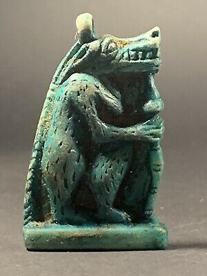 Ancient Egyptian Faience Amulet Of The Hippo Taweret Childbirth God C. 700-332Bc