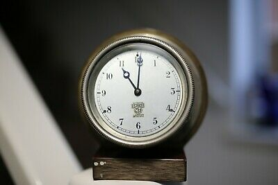 VINTAGE SMITHS CAR CLOCK WORKING 1930s?? BOAT MILITARY KEEPING TIME