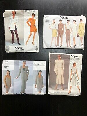 Job Lot VINTAGE VOGUE Sewing Patterns X 4 SUITS SEPARATES INC AMERICAN DESIGNERS