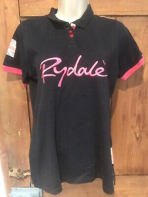 Ladies Girls Rydale Navy Blue Polo Shirt Size Small