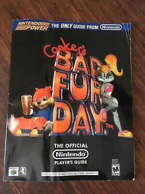 Conker's Bad Fur Day Video Game Nintendo 64 N64 Strategy Players Guide Hint Book