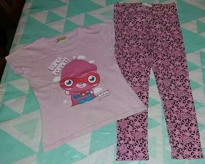 Girls used moshi monster outfit top/ leggings size 5/8 years old. From George