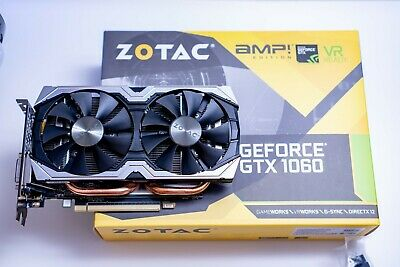 Zotac GeForce GTX 1060 AMP! Edition 6 GB GDDR5 nVidia Gaming Grafikkarte PCIe