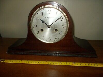 1920's JUNGHANS 8 DAY ART DECO  TAMBOUR TIME/STRIKE MANTEL CLOCK, PARTS/PROJECT