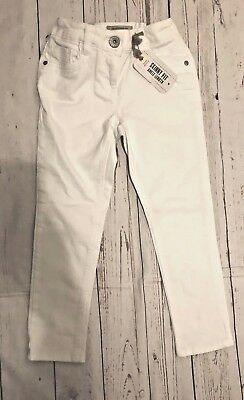 BNWT Girls Next Size 7-8 Years White Denim Trousers*Jeans Slim Fit