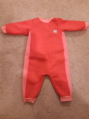 Pink Splash About Warm In One Fleece Lined Wetsuit  Size L(6-12 Months)