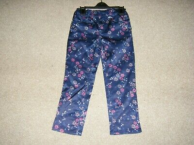 Girls Navy Trousers Age 3-4 from H& M