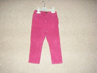 Girls Burgandy Corduroy Jeans Age 2-3 Years from George