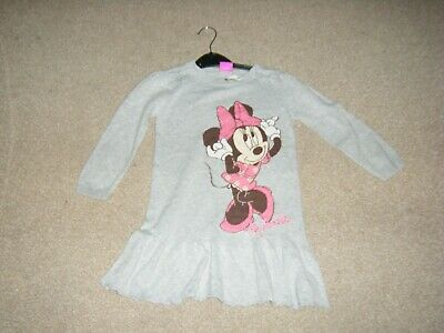 Girls Grey Minnie Mouse Tunic Dress Age 3-4 Years from Disney at George