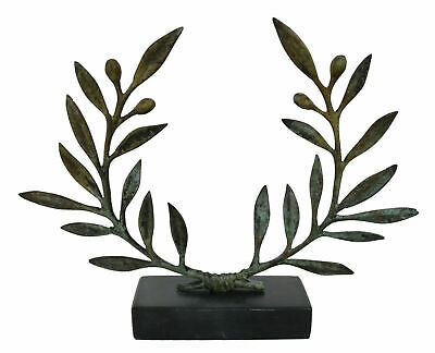 Bronze Olive Wreath on marble base - Ancient Greek Olympic Games Prize - Kotinos