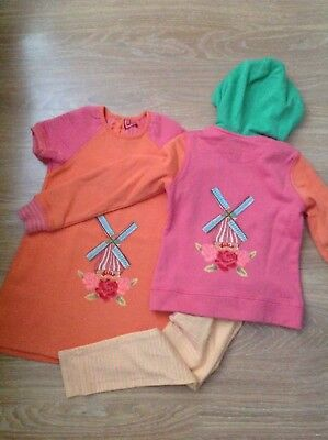 Oilily girls dress ,hoodie and leggings set age 6 years