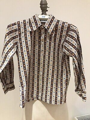 "Vintage Early 1970's Royal Warrant Holders ""Viyella House"" Boy's Shirt Age 6"