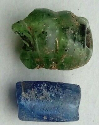 Lot Of 2 Glass Beads Celtic& Byzantine