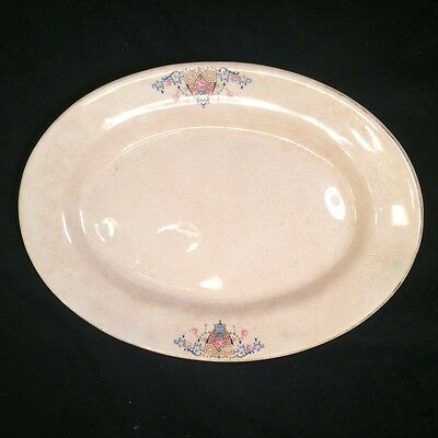Antique Platter Serving Plate Oval Shabby Farmhouse Country Chic