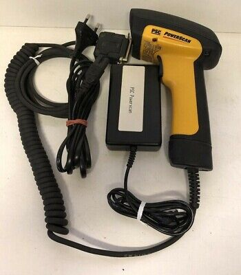 Datalogic PSC Powerscan 0611001-011001-001 1D Barcode Scanner including Supply
